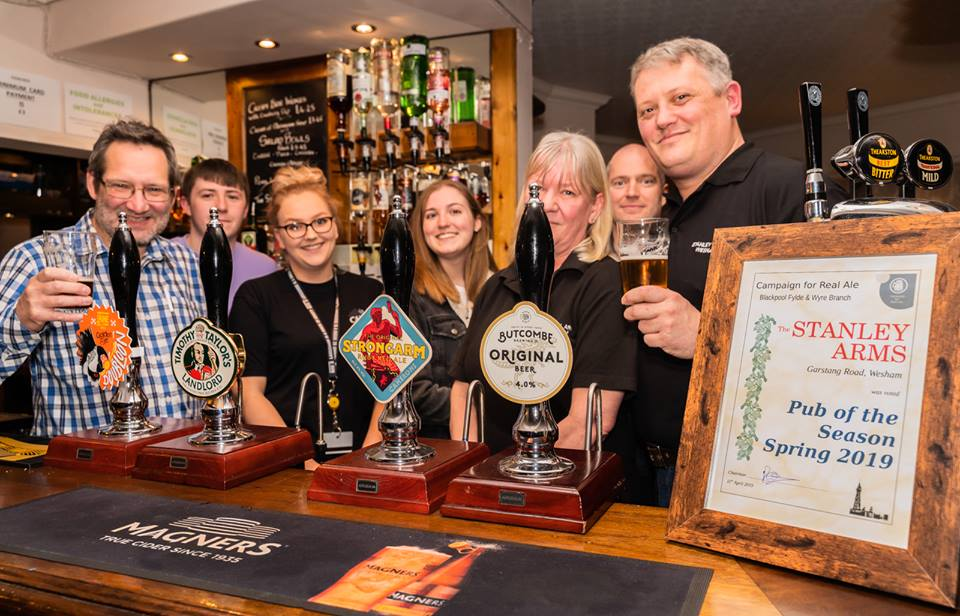 Blackpool Fylde & Wyre Branch Pub of the Season - Spring 2019
